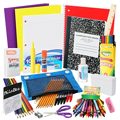 DilaBee Back to School Supplies Kit for Third to Fifth Grade Kids: Complete Classroom Supply Bundle - Set of 20 Elementary School Essentials - Crayola Art, Elmer's Glue, Pencils, Papers by DilaBee (Image #4)