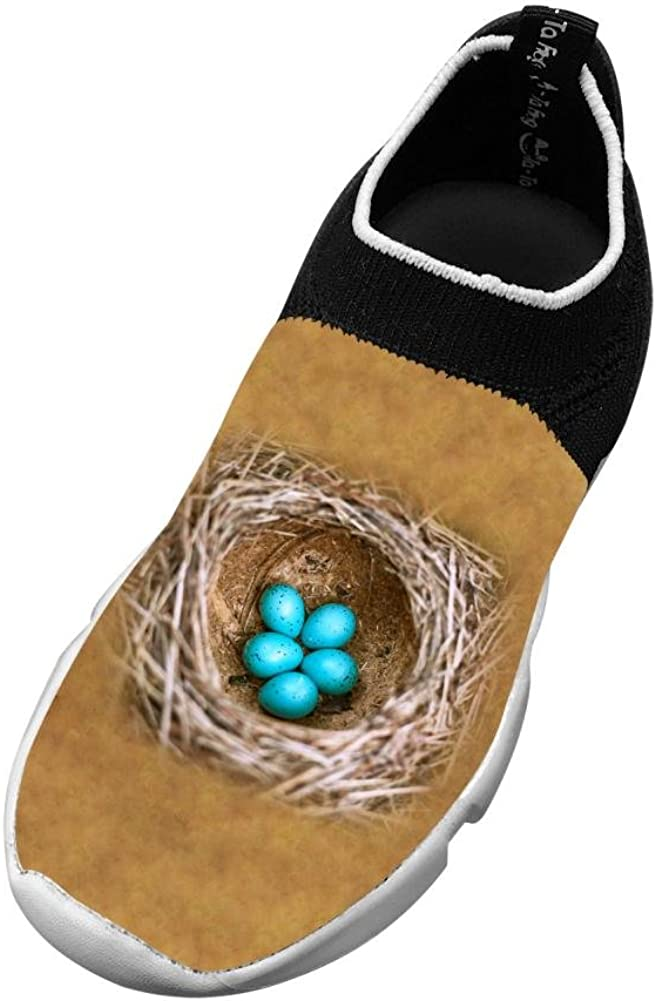 Five Eggs New Fashion Flywire Knitting 3D Printing Running Shoe For Boy Girl