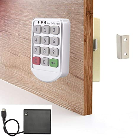 Superb Electronic Cabinet Lock Kit Digital Keypad Locker Lock With Password Entry Keyless Cabinet Door Lock External Power Box Included For Free Home Interior And Landscaping Ologienasavecom