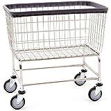 R&B Wire 200F Large Capacity Wire Laundry Cart, 4.5 Bushel, Chrome
