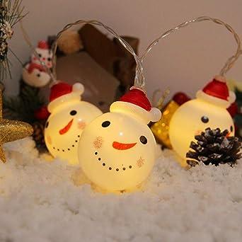 Led Christmas Lights String Santa Snowman Fairy Lights Battery Box Lights Room Decoration Lights Outdoor Christmas Lighting 3m Usb Amazon De Beleuchtung