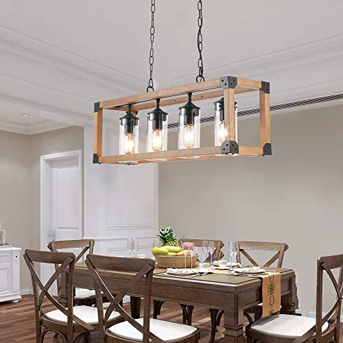 Contemporary Island Lighting 4 Lights Kitchen Hanging Light