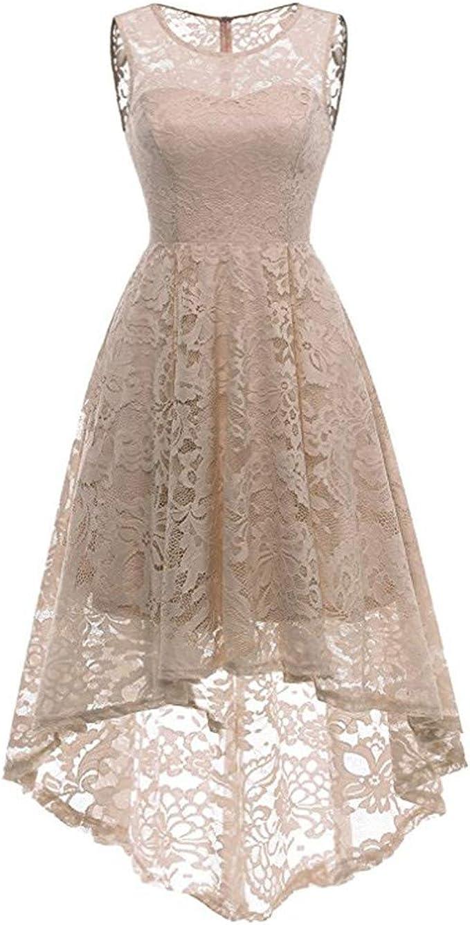 Kleider Damen Festlich Elegant Hepburn Cocktail Hochzeit Spitzen