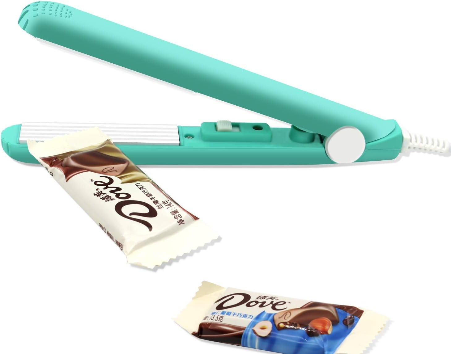 "Mini Bag Sealer Heat Seal, Handheld Food Sealer Bag Resealer for Food Storage, Portable Smart Heat Sealer Machine with 45"" Power Cable for Chip Bags, Plastic Bags, Snack Bags -BLUE"