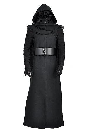 Star Wars 7  El Despertar de la Fuerza Kylo Ren Adulto Uniforme Negro  Chaqueta Abrigo 54cedbe2d30f