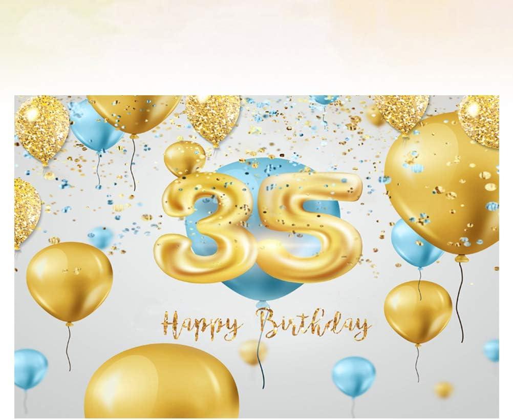 Fashion Background Cloth 35 Birthday Congratulation Photographic Prop Creative Backdrop Photo Taking Prop 210x150cm