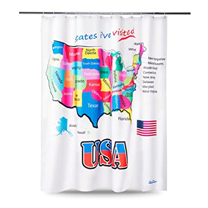 Amazon United States Map Shower Curtain Kids
