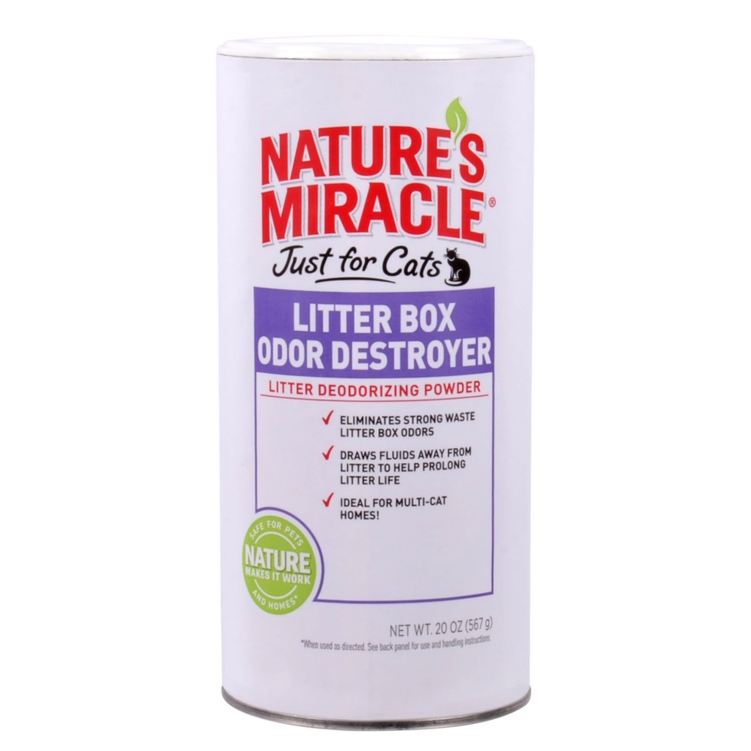 Nature's Miracle Just for Cats Odor Destroyer Litter Powder
