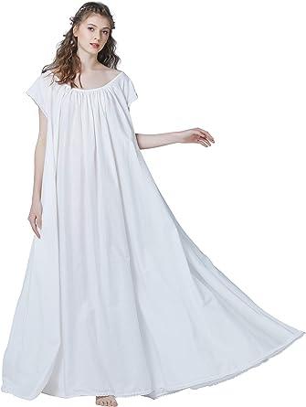 Women's 100% Cotton Vintage Victorian Nightgown Maternity Sleepwear Long  Dress Plus Size XL at Amazon Women's Clothing store