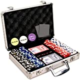 Da Vinci 200 Dice Striped Poker Chip Set 11.5g (Small Image)