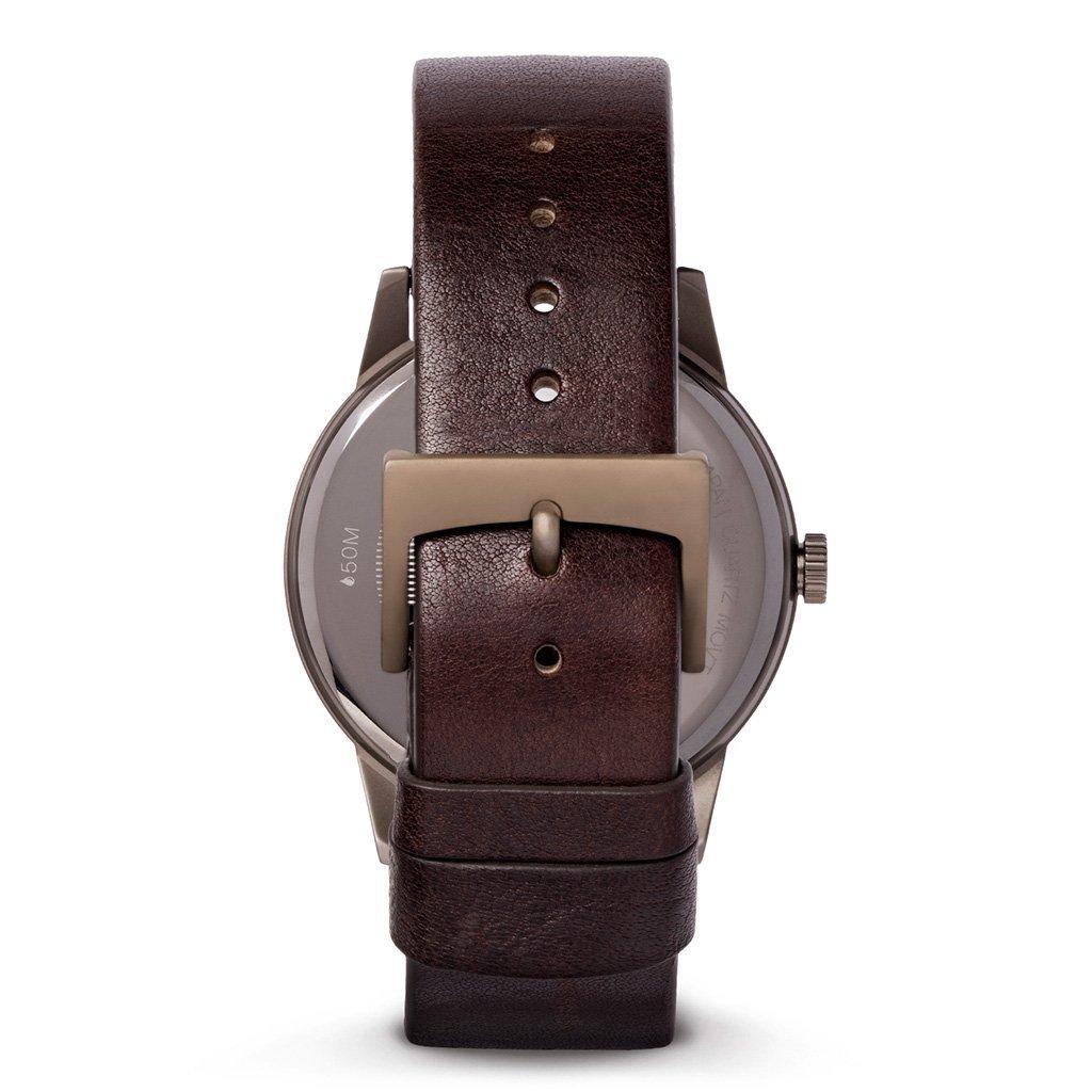 HAVET | Reloj de hombre Bell Rock de acero color khaki y correa piel marrón: Amazon.es: Relojes