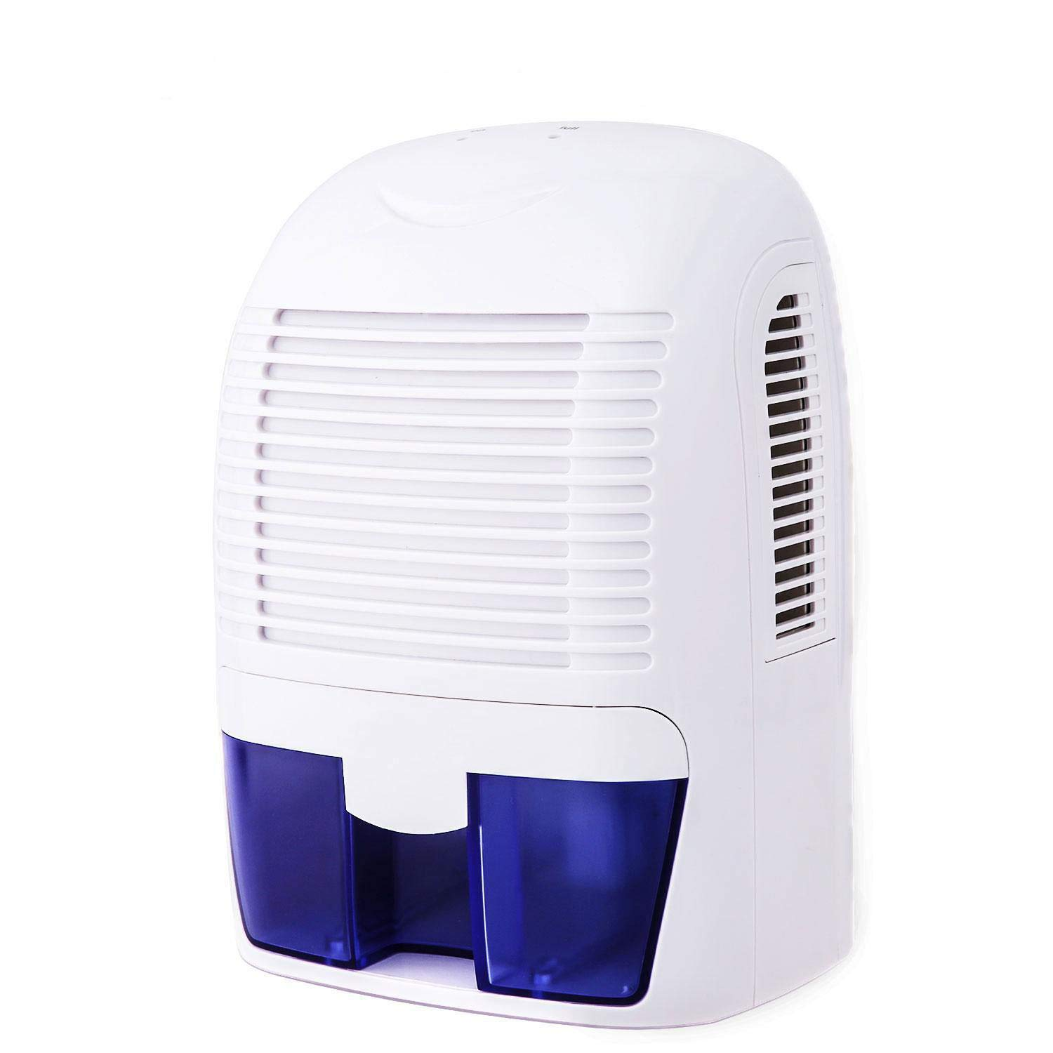 Leoneva Premium Electric Mini Quiet Safe Dehumidifier, Portable Compact for Damp Air Household, Home, Kitchen, Office, Bedroom, Garage, 1500ML Capacity, 2200 Cubic Feet
