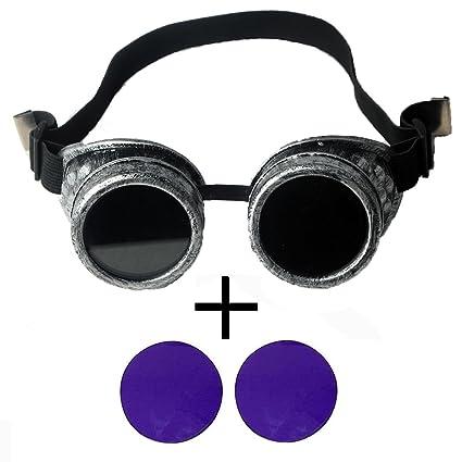 firstlike Retro antiguo marco plateado vapor Punk soldadura Gorgeous Prendas de vestir accesorios + lentes de