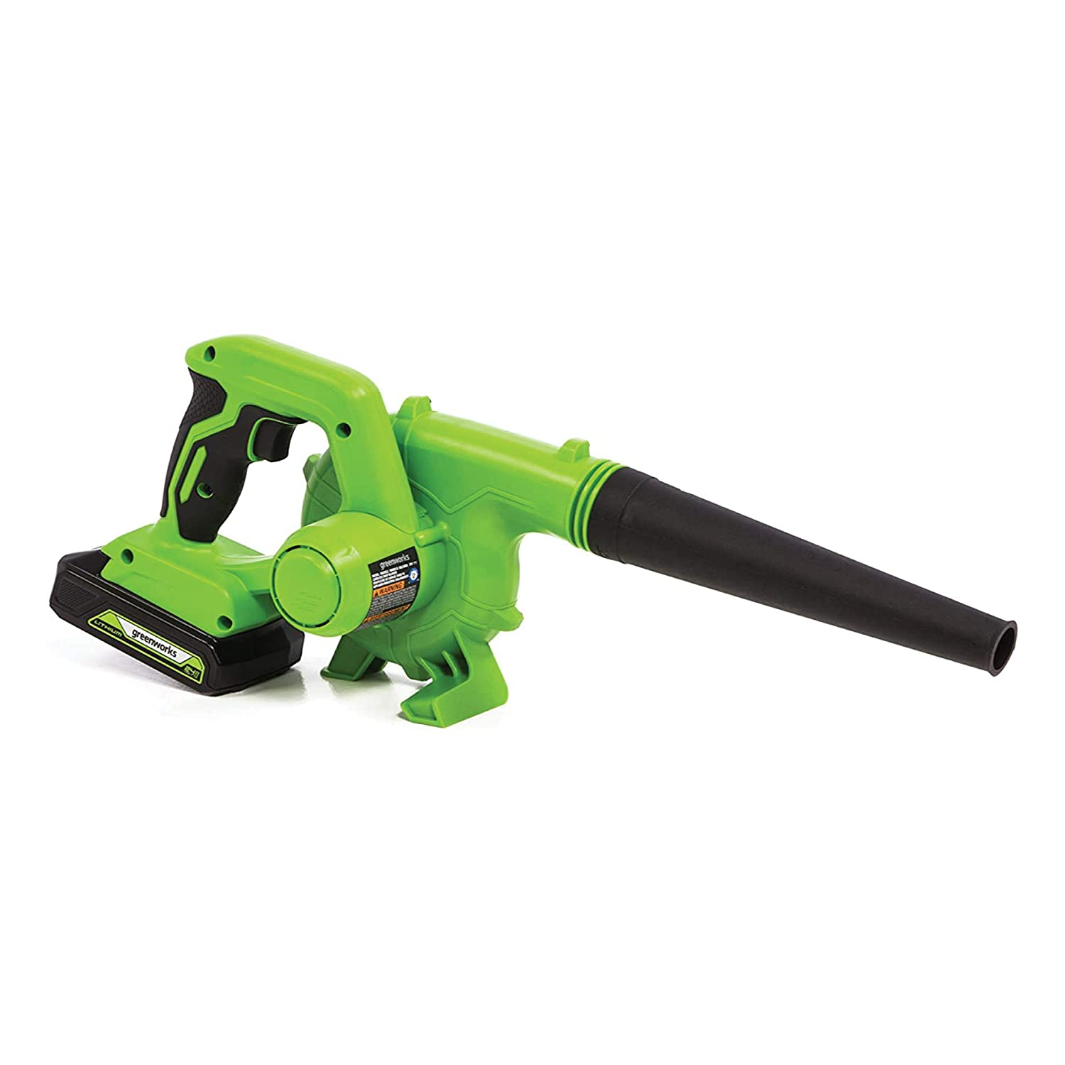 Green 2Ah Battery and Charger Greenworks SBL24B211 Blower