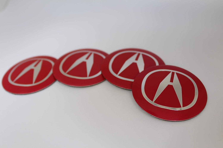 Decal Ideas For 2019 Acura Rdx Burgundy Amazon.com: 13 Autosupply 4X 56mm Red Acura Wheel Logo Cap Badge