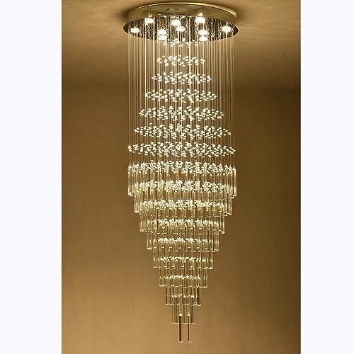 Raindrop Crystal Chandelier Modern Contemporary Chandelier Rain Drop Helix Fixture Lighting