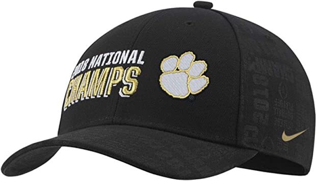 Clemson Tigers College Football Playoff 2018 National Champions Locker Room Adjustable Hat Black
