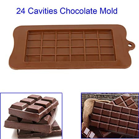 Chocolate Bar Mold Chocolate Bar Maker Diy Mold Hard Pc Ice Cube Candy Tray Kitchen Baking Tool Home & Garden