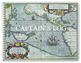BookFactory Captain's Log Book / Boat Log Book / Ship's Log Book / Nautical Log Book - 100 Pages, Full Color Cover with Translux Protection, 11'' x 8 1/2'', Wire-O Binding (LOG-100-CPT-011)
