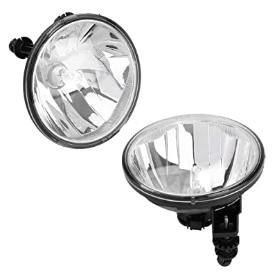 Roadstar Fog Lights 12V 19W H16 5202 Halogen Lamp Bulb Fit for 2007-2014 Chevy Suburban Avalanche Tahoe Camaro GMC Acaidia Ford Front Left Right Bumper Driving Lamps Clear Lens: Automotive