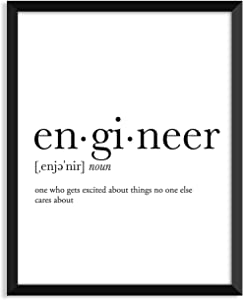 Engineer definition, college dorm room decor, dorm wall art, dictionary art print, office decor, minimalist poster, funny definition print, definition poster, inspirational quotes