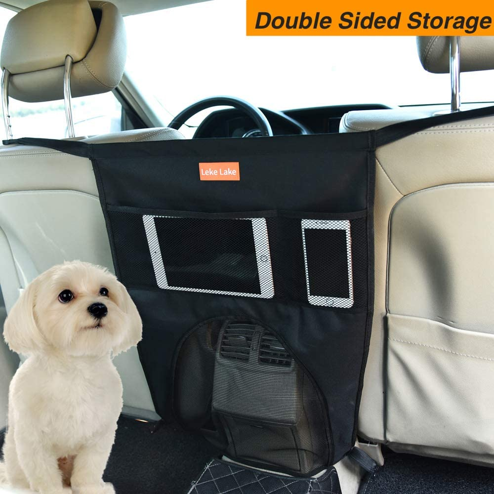 Car Seat Organizer Easy to Install and Adjust for All Cars Leke Lake Pet Car Backseat Barrier Adjustable for Safe Travel Driving