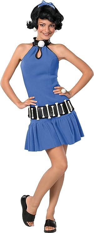 60s Costumes: Hippie, Go Go Dancer, Flower Child, Mod Style Betty Rubble Adult Costume - Small Blue/Black $39.58 AT vintagedancer.com
