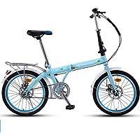 "Modzye 20"" Lightweight Alloy Folding City Bike Bicycle, Mechanical Disc Brake- 16AF02W"