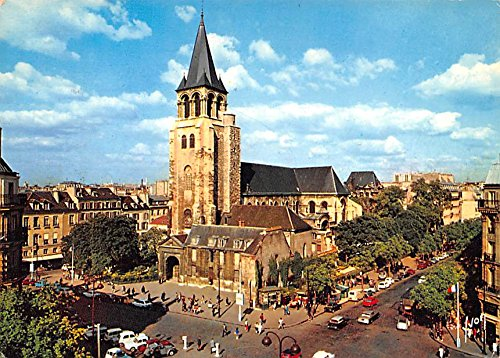 carrefour-et-eglise-paris-france-postcard