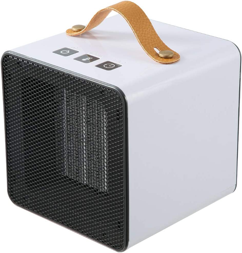 SXYRN Calentador De Cerámica Mini PTC De 600 W, Caja Ignífuga A Prueba De Fuego, Eficiente En Energía, Adecuado para Escritorios Y Mesas, Blanco: Amazon.es: Hogar