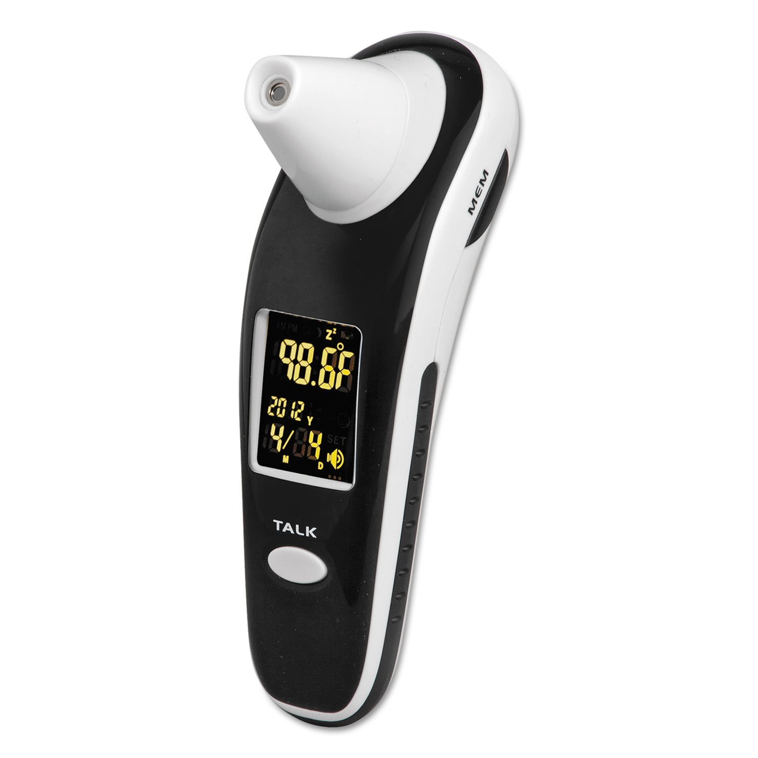 HealthSmart 18935000 DigiScan Forehead & Ear Thermometer Black/White Digital/Verbal Readout