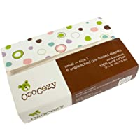 OsoCozy - Prefolds Unbleached Cloth Diapers, Size 1(7-15lbs), 6 Pack - Soft
