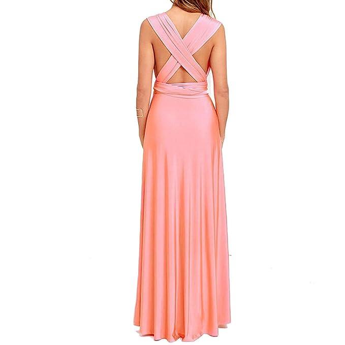 Chyedas Vestido de Verano-Playa Mujeres Abrigo Largo Bohemio Robe Vendaje Vestido de Dama de