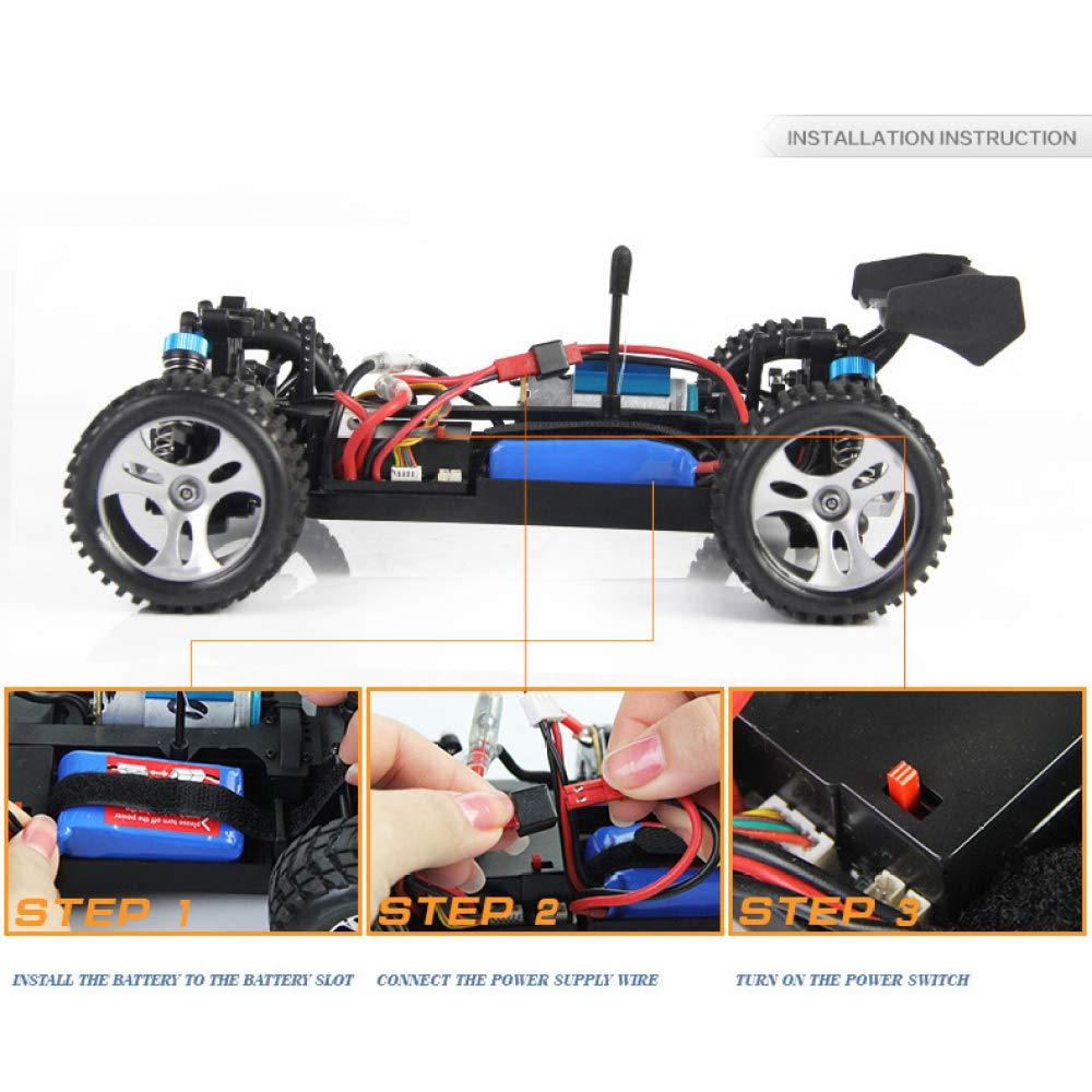 XIAOLONGY Drahtlose Fernbedienung Auto High Speed Stunt Drift Offroad Rennen Offroad Drift Allradantrieb Spielzeug High-Speed-Auto, 70km / H Fernbedienung Modus 2,4G Fernbedienung Antriebsmotor 660af4