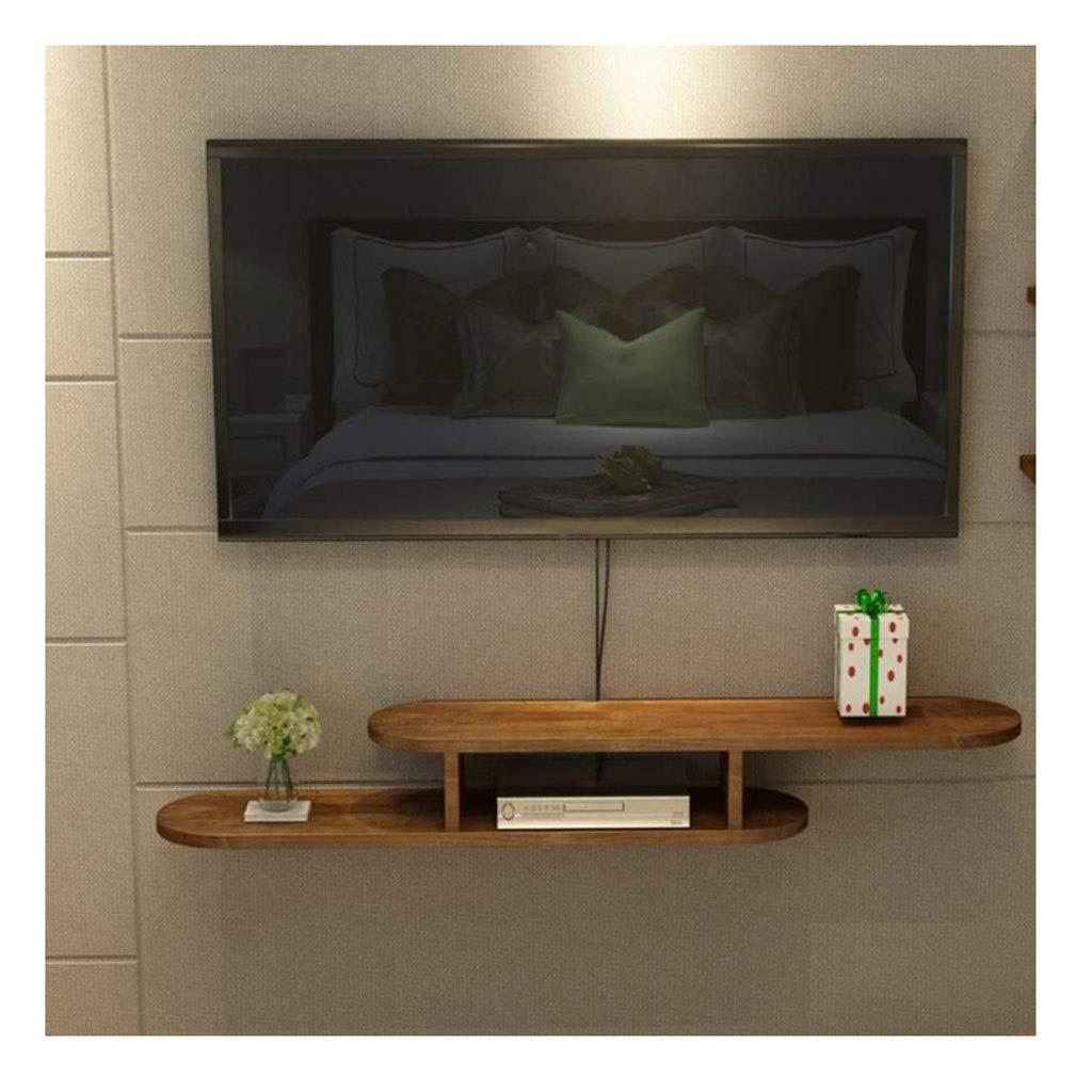 フローティング棚木製テレビスタンドメディアコンソール用ケーブルボックスルーターリモートDVDプレーヤーゲーム棚 (サイズ さいず : L-120cm) B07QRWMJ19  L-120cm