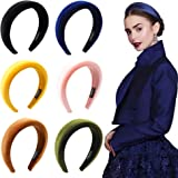 Headbands Women Hair Head Bands - 6 Pcs Accessories Velvet Padded Head Bands Cute Beauty Fashion Hairbands Girls Vintage Hair Bands Boho Wide Band For Wash Face Makeup Workout GYM Yoga Running