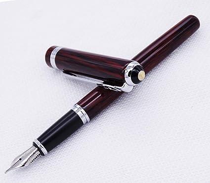 Duke 962 - Pluma estilográfica, punta media de madera con estuche para bolígrafos: Amazon.es: Oficina y papelería