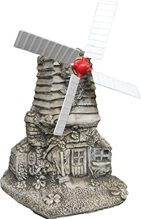 Large Stone Windmill Garden Statues Ornament Great Look Gift Free UK  Mainland Delivery