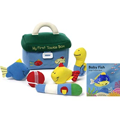GUND Baby My First Tackle Box Stuffed Plush Playset Finger Puppet Gift Set: Toys & Games