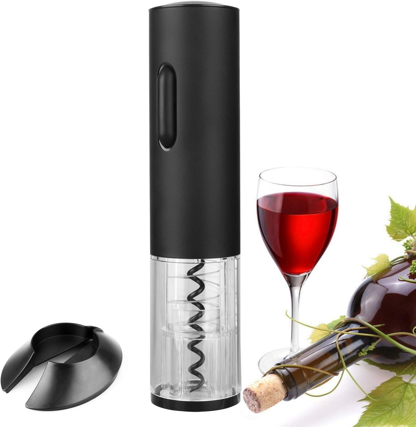 Electric Automatic Wine Bottle Opener Corkscrew Opener W// Foil Cutter LED Light