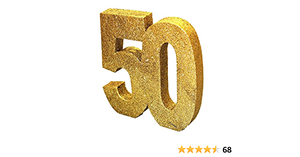 H104 Gold Glitter Number 50 Table Decoration-1 Pc Generique