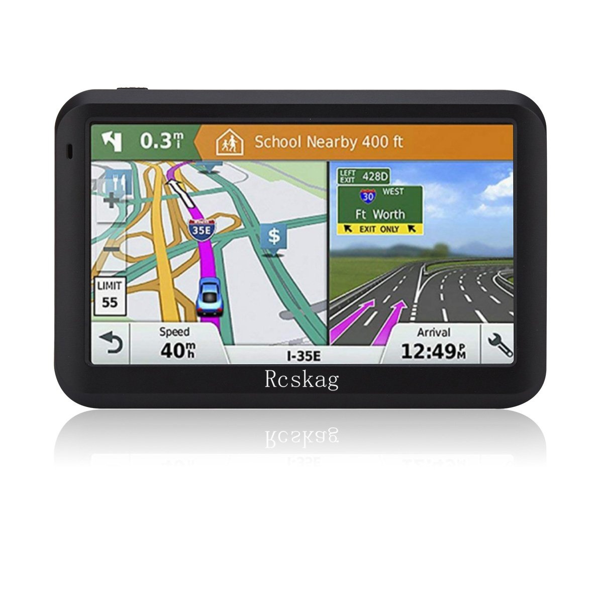 Amazon.com: GPS Navigation for Vehicle GPS Navigation for Car-5  inch/8GB-with Built-in Lifetime Maps,Advanced Lane Guidance and Spoken  Turn-by-Turn ...