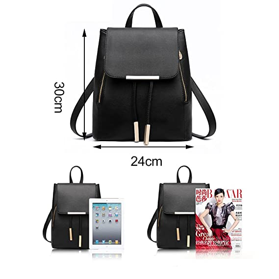 Amazon.com: Blue Stones Women Backpack PU Leather Mochila Escolar School Bags For Teenagers Girls Top-handle Backpacks: Kitchen & Dining