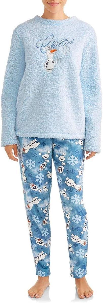Disney Frozen Olaf Chillin Plush Fleece 2 piezas pijama sueño Set