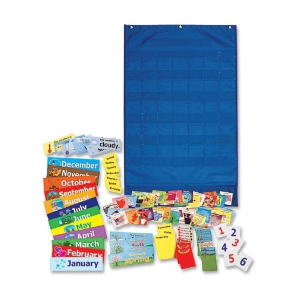 Weather and Calendar Pocket Chart, Learning and Exploration Toys
