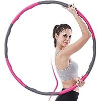 aoory Hula Hoop serie voor gewichtsvermindering, banden met schuimrubber, verzwaarde hoelahoepel voor fitness massage 8…
