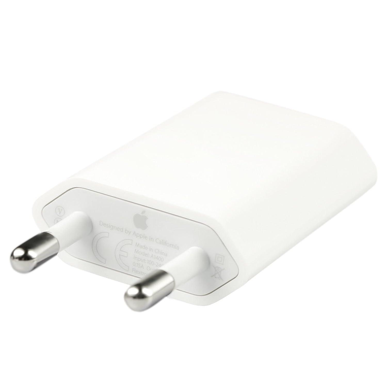 Original Apple Fuente md813 ZM/A Conector para iPhone 3 4 4S 5 5S 5 C 6 6 Plus 6S 6S Plus adaptador + Gratis pantalla de paño de Green Sipp (nuevo, ...
