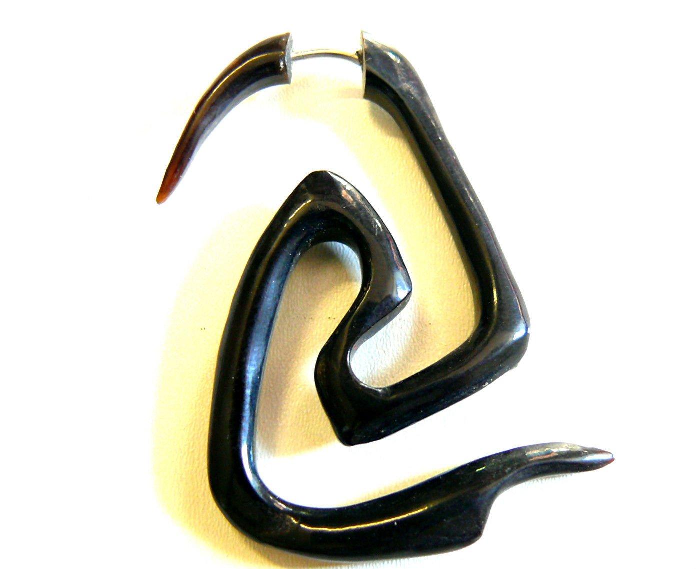 Falso Dilatador Piercing Cuerno pendiente de hueso étnica Gauge Horn Earring: Amazon.es: Hogar