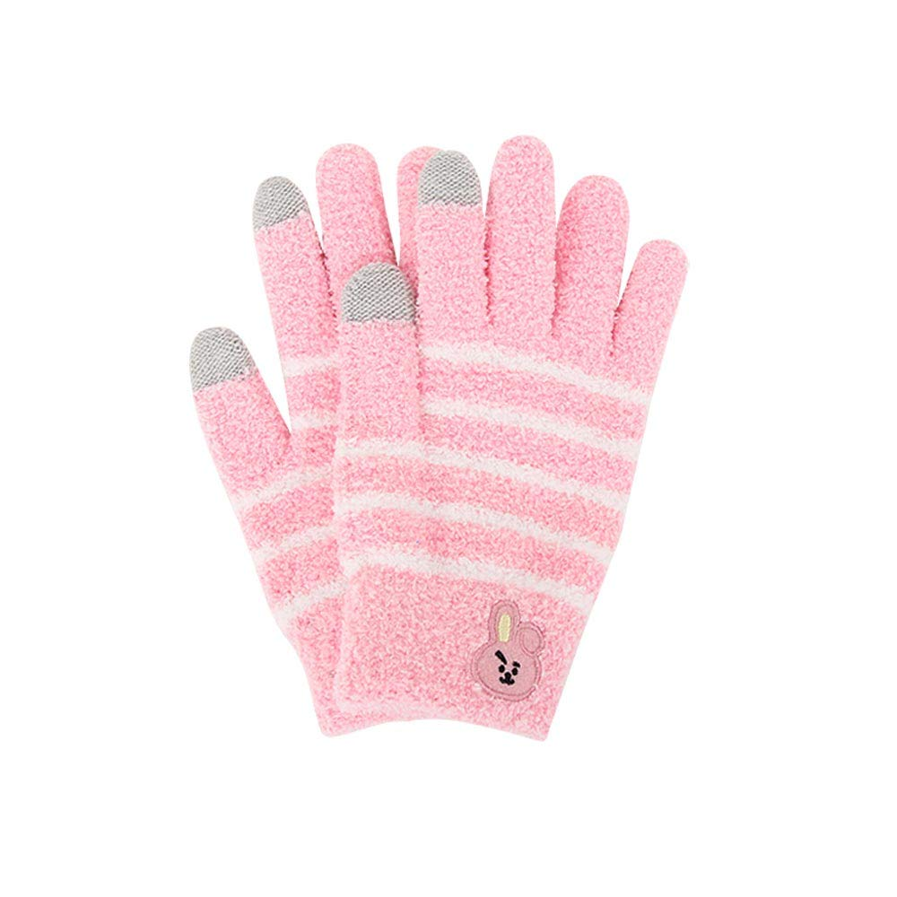 BT21Winter Kint Gloves Simple knit Finger gloves Cooky