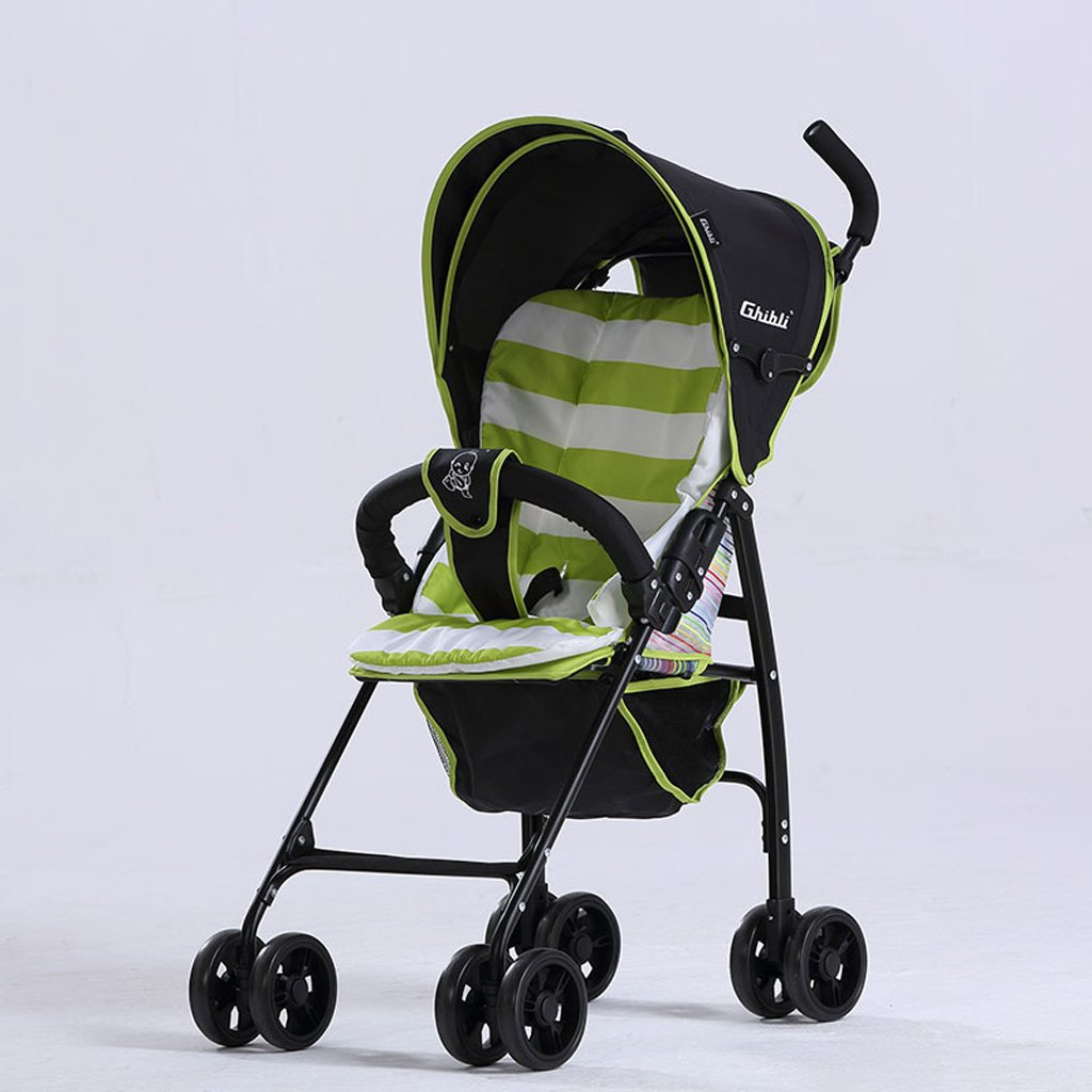子供の傘ベビーカー軽量折りたたみポータブル超軽量ベビーカー、グリーン/パープル/レッド、58 * 45 * 96センチメートル ( Color : Green ) B07BW5WMHC